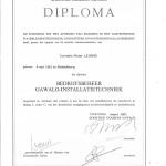 Diploma bedrijsbeheer GAWALO-installatietechniek